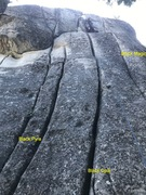 Rock Climbing Photo: Black Opal Area Flared Cracks.