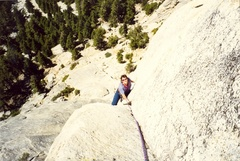 Anne on the nice upper crack.