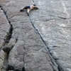 Mid crux on a redpoint send