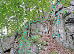 Rock Climbing Photo: Manayunk far left 1. L Face+Arete Beyond Left  2...