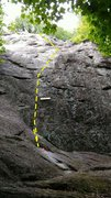 Rock Climbing Photo: Easy 5.7 for lead beginners.