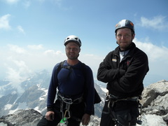 Me and Bjorn on summit of Grand