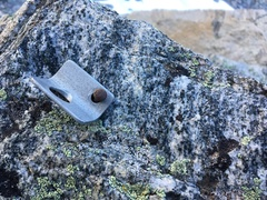 Rock Climbing Photo: Original bolt found on the second pitch.