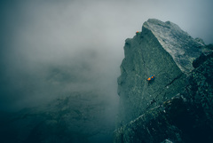 Rock Climbing Photo: Matt Bowman on the Fairy Tale Traverse pitch.  © ...