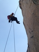 Rock Climbing Photo: This is the first rappel off the top of the ear on...