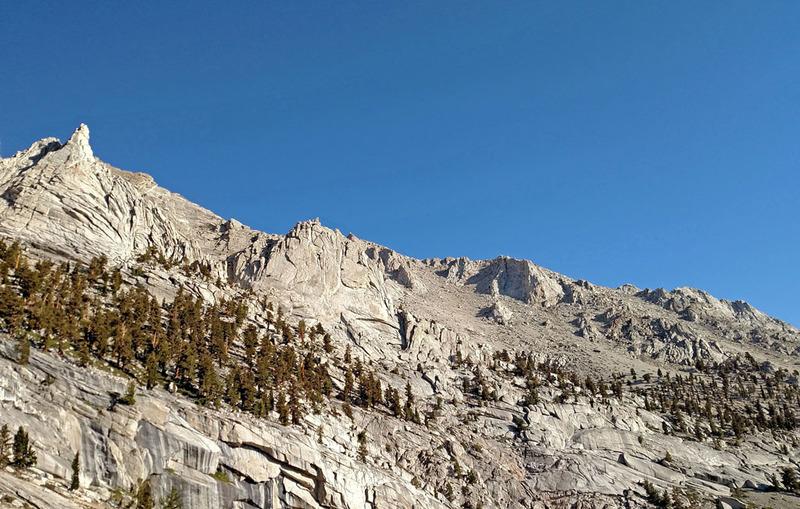 Mt Carillon SE Long Ridge lower part<br> with Impala + Springbok toward upper left