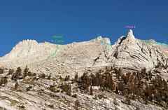 Rock Climbing Photo: approach toward Russell-Carillon pass  + middle o...
