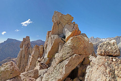 Rock Climbing Photo: N side of North peak of the Impala with South pea...