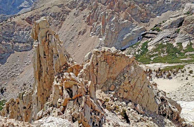 Rock Climbing Photo: 3 peaks S N W of the Impala  . . from above NW (...