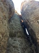 Rock Climbing Photo: So many ways to climb this route... body jamming i...