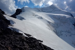 Rock Climbing Photo: The final snow crest on the East Ridge. This is wh...