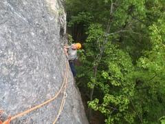 Rock Climbing Photo: Ben eyeing the upper traverse