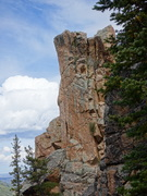 Rock Climbing Photo: The Golden Shower arete.
