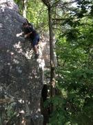 Rock Climbing Photo: Baker starting the train