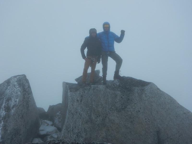 At the summit- with Jon Winiasz. We crushed through adversity!!