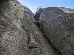 Rock Climbing Photo: John on Mole's Corner.
