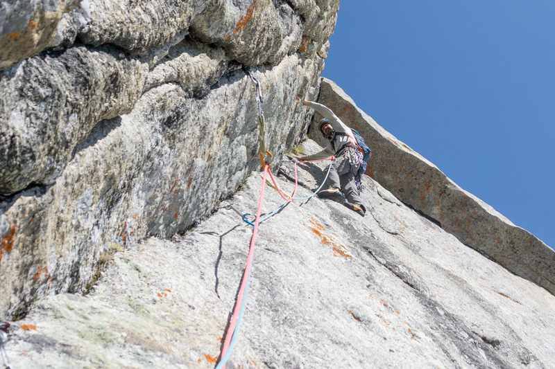John threading pitch 8 below the obvious but easy roof.