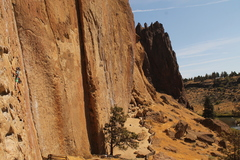 Rock Climbing Photo: Bobby on the jug haul which is slightly more fun t...