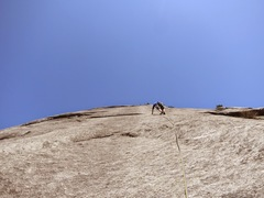 Rock Climbing Photo: Nicola M- on Online, pitch 5, at Static Point near...
