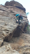 Rock Climbing Photo: Stryder the Jester working his way up the pillar o...