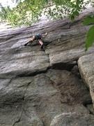 Rock Climbing Photo: Jacob at the crux traverse