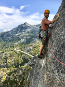 Rock Climbing Photo: John above the crux of One Hand Clapping. Photo by...