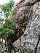 Rock Climbing Photo: Start off the block.