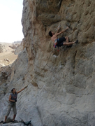 Rock Climbing Photo: The nice opening moves of Echo Beach.