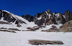 Rock Climbing Photo: Trail Crest (left center) - left of Mt Muir - from...