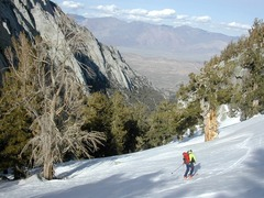 skiing down North Fork middle section, off trail above S side of creek