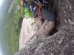 Rock Climbing Photo: last few feet before lunch ledge