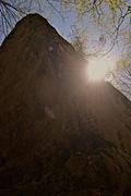 Rock Climbing Photo: Blake O. getting energized on a beautiful fall day...