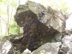 Rock Climbing Photo: Left line.