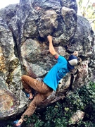 Rock Climbing Photo: working through the crux