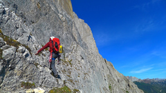 Rock Climbing Photo: 4th class terrain below the east ridge.
