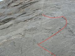 Rock Climbing Photo: New first pitch. 5.11- from here you can also tra...