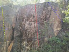 Rock Climbing Photo: Boulders on the trail below the routes