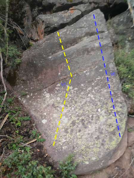 Rock Climbing Photo: Boulder on trail below routes
