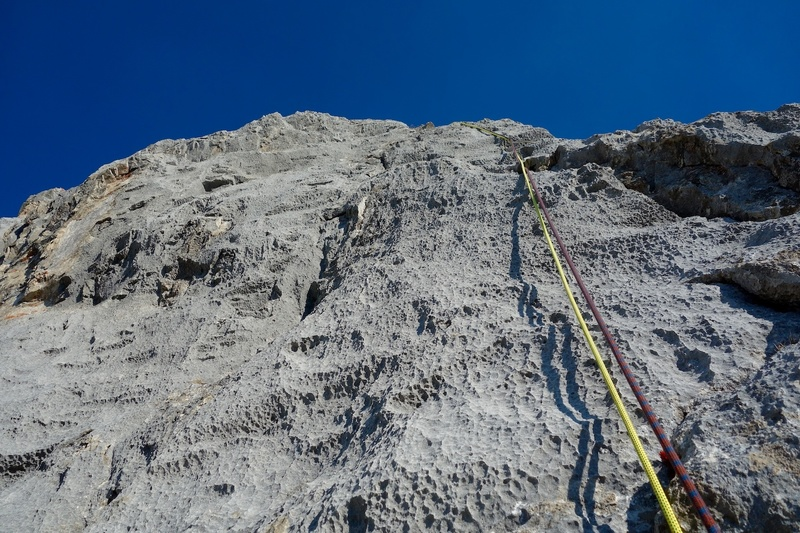 Grippy limestone on Pitch 3.