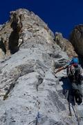 Rock Climbing Photo: Starting off Pitch 8.