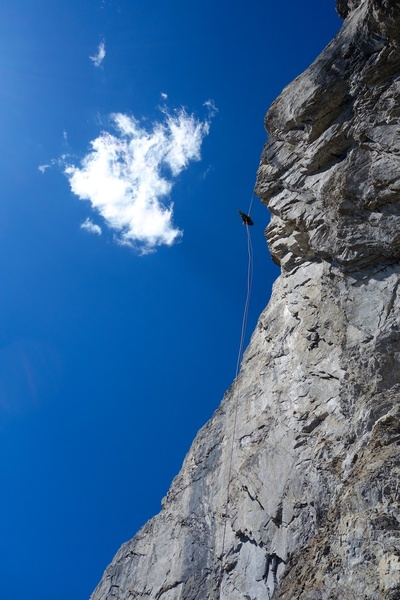 Rock Climbing Photo: Rap 2, a hanging rappel. We had 2 ropes so we made...