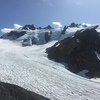 View up towards Snow Dome and Olympus from the Lateral Moraine