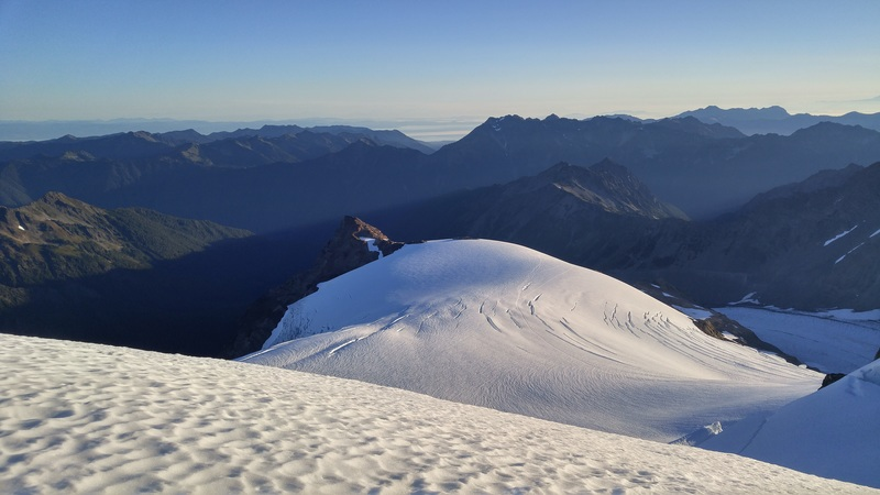 Rock Climbing Photo: View from near the summit looking back to Snow Dom...