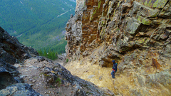 Rock Climbing Photo: Tower of Babel descent gully.