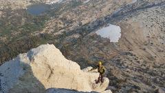 Rock Climbing Photo: Francesco, below the summit block.