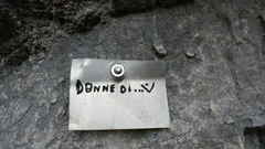 Rock Climbing Photo: Name plate at start