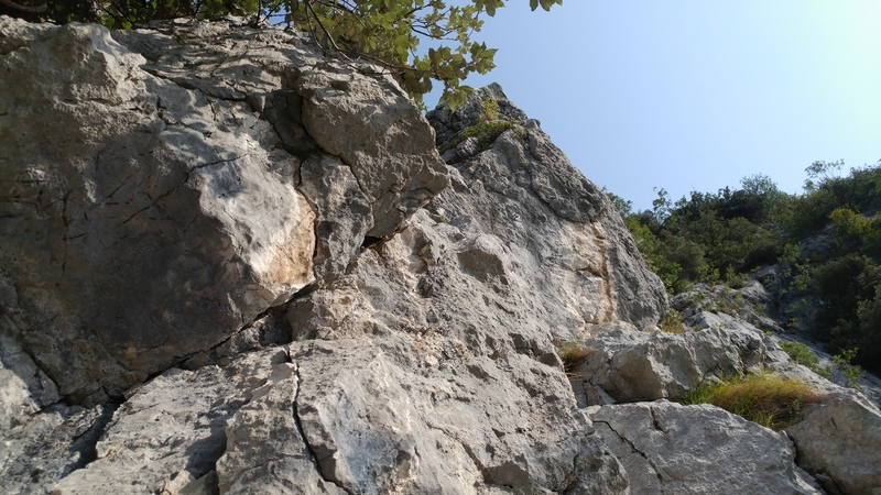Second pitch from the belay