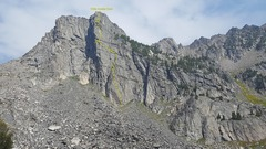 A overview picture of The Prow. Taken from just above Beehive Lake.