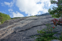 Rock Climbing Photo: Start of Bore Tide (white slab with two bolts) and...