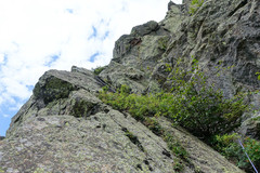 Rock Climbing Photo: Midway of the final pitch, the arete.